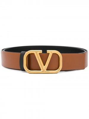 Двухсторонний ремень с логотипом VLogo Valentino Garavani. Цвет: коричневый