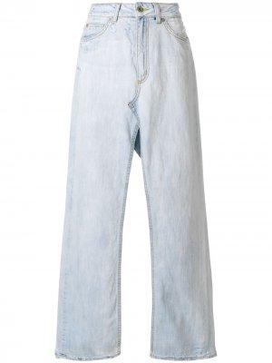Длинная джинсовая юбка DONDUP. Цвет: синий