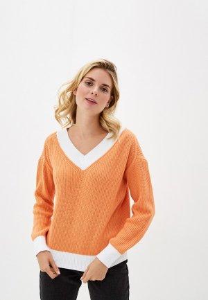 Пуловер Sela. Цвет: оранжевый
