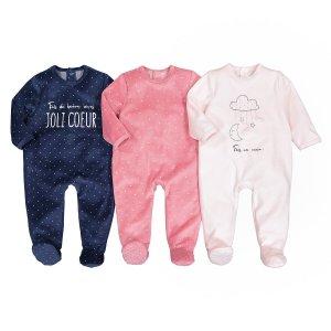 3 пижамы LaRedoute. Цвет: розовый