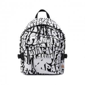 Текстильный рюкзак Lanvin. Цвет: чёрно-белый
