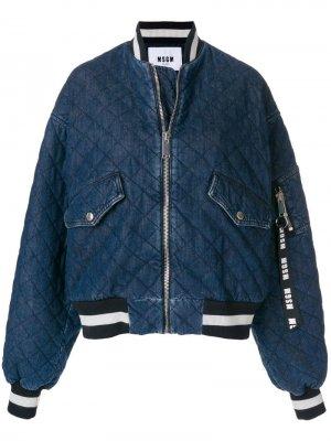 Куртка-бомбер с нашивкой M MSGM