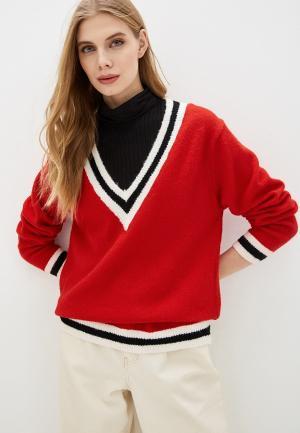 Пуловер By Swan. Цвет: красный