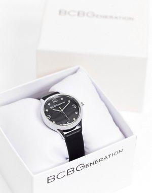 Часы с кожаным ремешком BCBG Generation-Черный цвет Max Azria