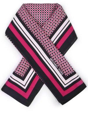 Шелковый платок с принтом MICHAEL KORS. Цвет: разноцветный
