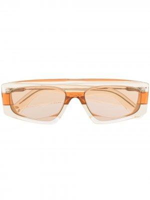 Солнцезащитные очки Yauco в квадратной оправе Jacquemus. Цвет: нейтральные цвета