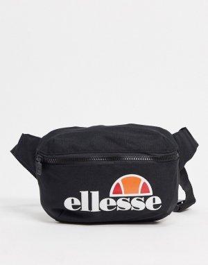 Черная сумка-кошелек на пояс с крупным логотипом -Черный ellesse