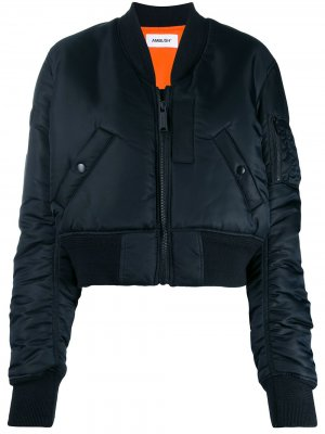 Куртка-бомбер на молнии AMBUSH. Цвет: черный