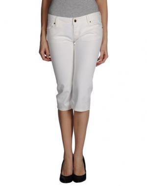 Джинсовые брюки-капри JFOUR. Цвет: белый