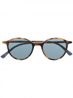 Солнцезащитные очки Pearl District в круглой оправе Etnia Barcelona. Цвет: коричневый