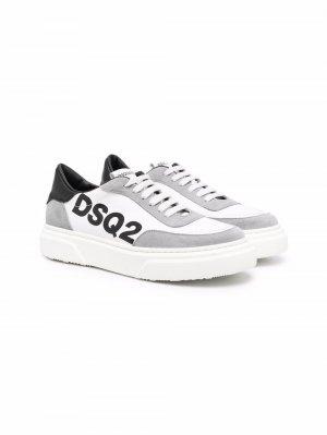 Logo-print low-top sneakers Dsquared2 Kids. Цвет: белый
