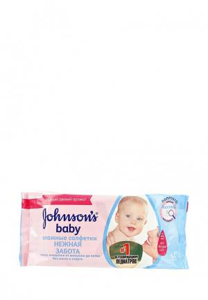 Влажные салфетки Johnson & Johnsons baby Нежная забота, 64 шт