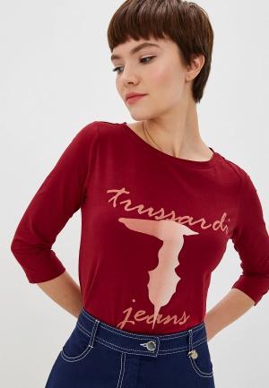Лонгслив Trussardi Jeans. Цвет: бордовый