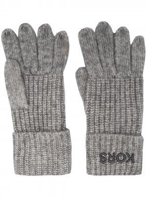 Трикотажные перчатки Michael Kors. Цвет: серый