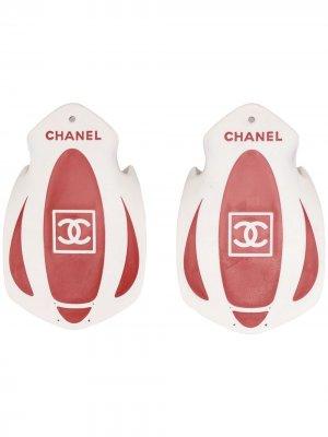 Лопатки для плавания с логотипом Chanel Pre-Owned. Цвет: белый