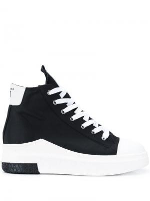 Хайтопы на шнуровке Cinzia Araia. Цвет: черный