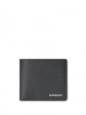 Фактурный кошелек для монет Burberry. Цвет: черный