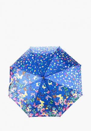 Комплект Flioraj - Зонт + Брелок. Цвет: синий
