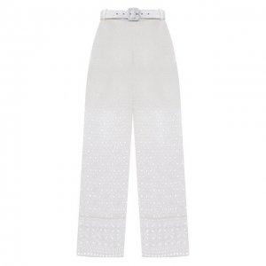 Хлопковые брюки Charo Ruiz Ibiza. Цвет: белый