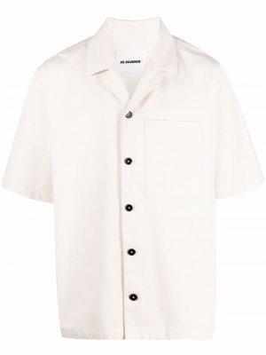 Рубашка с короткими рукавами и нагрудным карманом Jil Sander. Цвет: нейтральные цвета