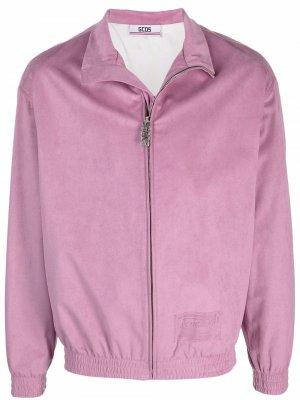 Куртка на молнии с воротником-воронкой Gcds. Цвет: фиолетовый
