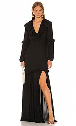 Макси платье talulah Amanda Uprichard. Цвет: черный