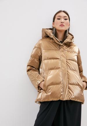 Куртка утепленная Pinko. Цвет: золотой