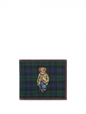 Бумажник Polo Bear с узором тартан Ralph Lauren. Цвет: зеленый