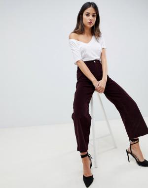 Широкие брюки с завышенной талией Hepburn-Красный DL1961
