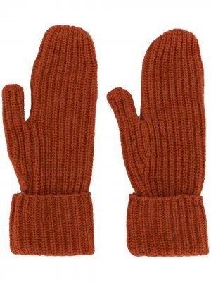Перчатки Elna в рубчик Wood. Цвет: оранжевый