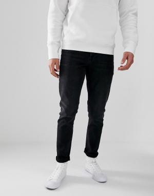 Черные выбеленные узкие джинсы -Черный ASOS DESIGN