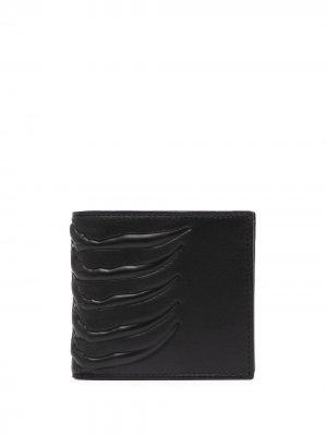 Бумажник Skeleton Alexander McQueen. Цвет: черный
