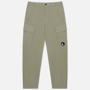 Мужские брюки Stretch Sateen Fitted C.P. Company. Цвет: серый