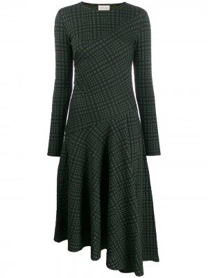 Платье асимметричного кроя в клетку By Malene Birger