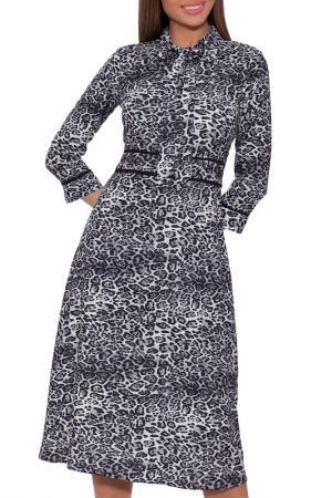 Платье Emansipe. Цвет: леопардовый, серый
