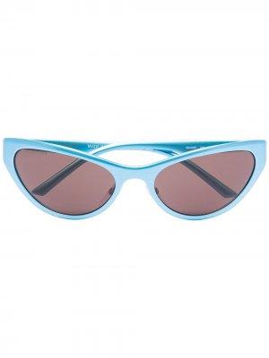 Солнцезащитные очки в оправе кошачий глаз Balenciaga Eyewear. Цвет: синий