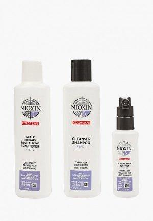 Набор для ухода за волосами Nioxin система 5 150+150+50 мл. Цвет: разноцветный