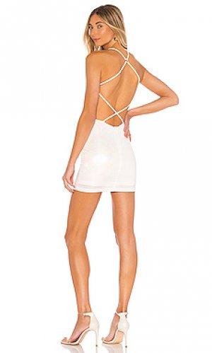 Мини платье deena superdown. Цвет: белый