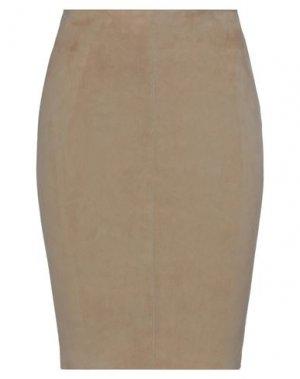 Юбка до колена JITROIS. Цвет: хаки
