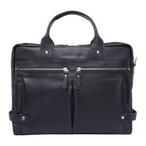 Кожаная деловая сумка для ноутбука Jacob Black