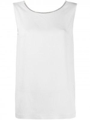 Блузка с бисером Fabiana Filippi. Цвет: серый