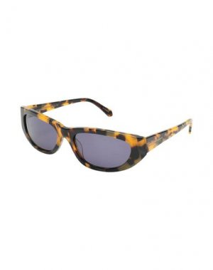 Солнечные очки KAREN WALKER. Цвет: коричневый