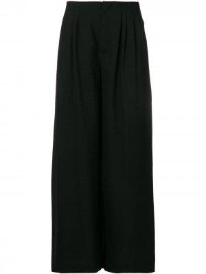 Широкие расклешенные брюки LANVIN. Цвет: черный
