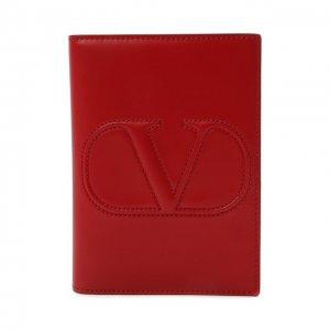 Кожаная обложка для паспорта Garavani Valentino. Цвет: красный