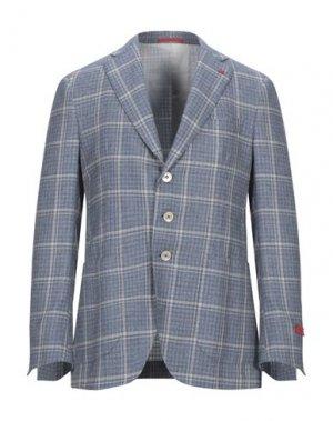 Пиджак ISAIA. Цвет: пастельно-синий