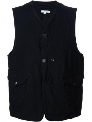 Жилет с застежкой на пуговицы Engineered Garments. Цвет: чёрный