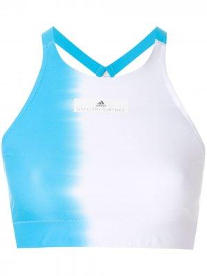 Топ для плавания adidas by Stella McCartney. Цвет: белый