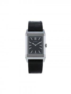 Наручные часы Grande Reverso Ultra Thin pre-owned 27.5 мм 2010-х годов Jaeger-LeCoultre. Цвет: черный