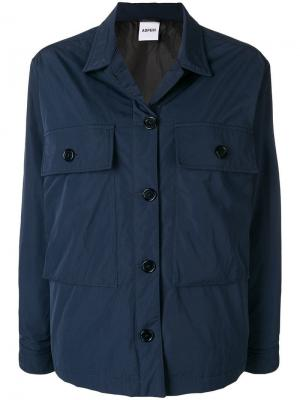 Куртка с большими карманами Aspesi. Цвет: синий