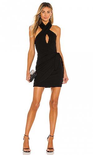 Платье corey Lovers + Friends. Цвет: черный